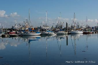 Newlyn Harbour on a calm day