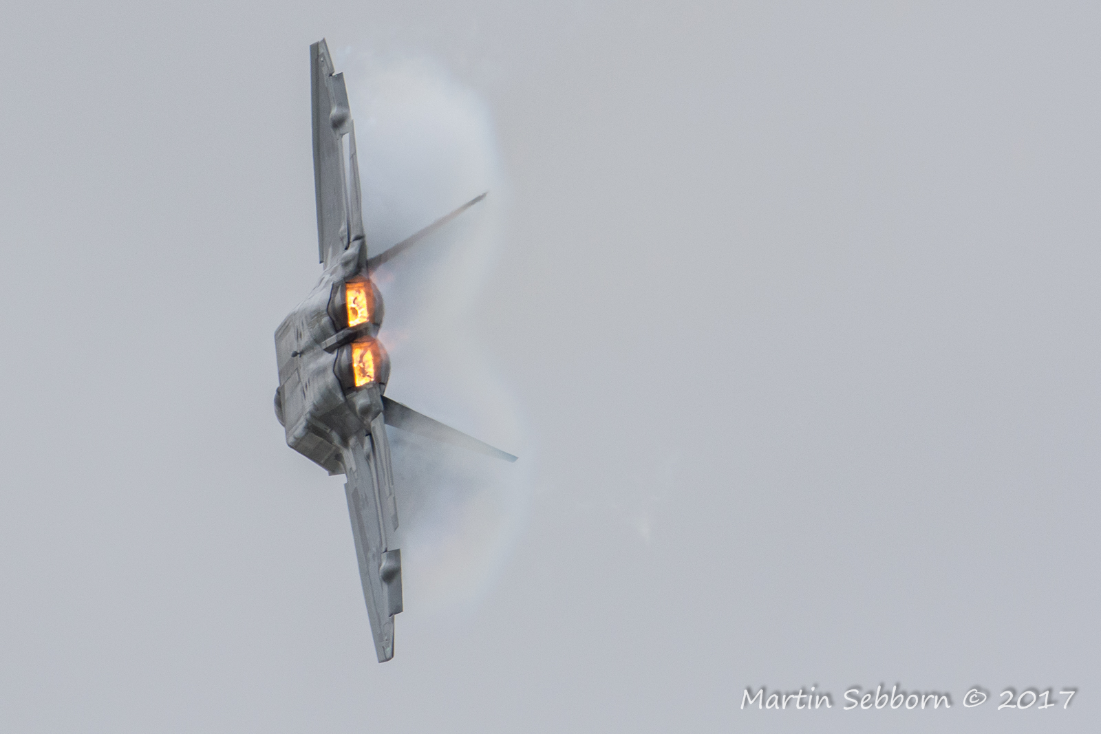 "F-22 ""Raptor"" - mist and flames!"