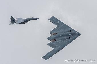 "The amazing B-2 ""Spirit"" Stealth Bomber and F15"