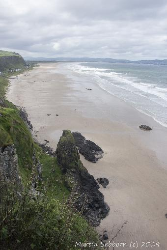 The beach below Mussenden Park