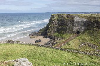 The railway through the cliff at Mussenden Park