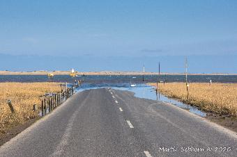 Lindisfarne Causeway at High Tide!